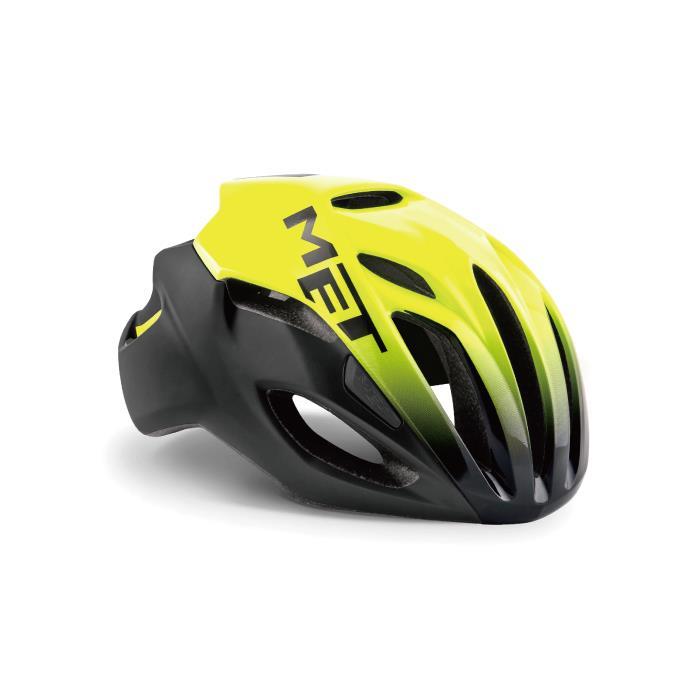 MET(メット) RIVALE HES リヴァーレ ブラックシェードイエロー サイズL(59-62cm) ヘルメット