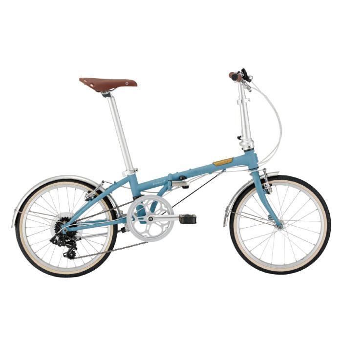 DAHON (ダホン) 2021 Boardwalk D7 ボードウォーク マットブルーグレー (142-193cm) 折りたたみ自転車