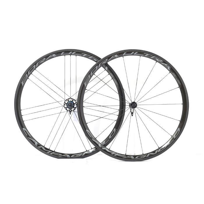 【中古】Campagnolo (カンパニョーロ)BORA ULTRA 35ボーラウルトラ (wide rim)クリンチャー ダークラベルカンパ11Sホイールセット【自転車】