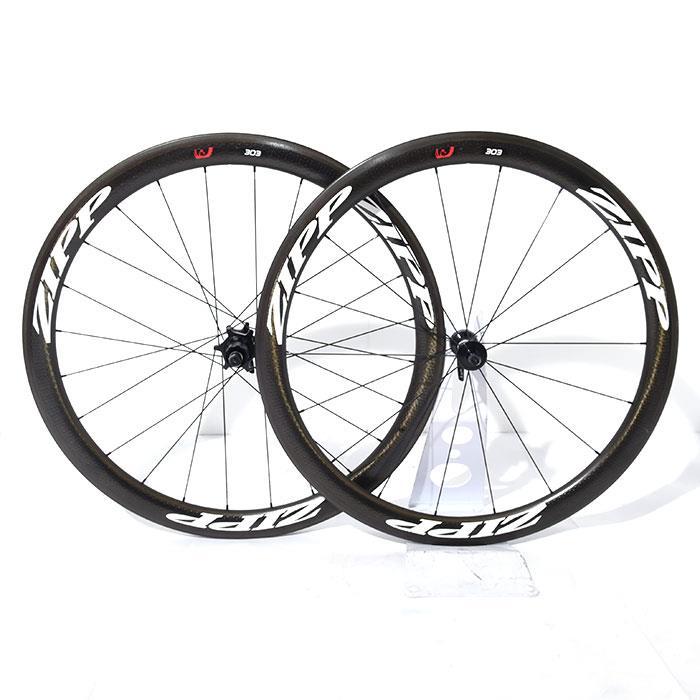 【中古】ZIPP (ジップ)303 Firecrest ファイアクレストクリンチャー シマノ11S ホイールセット【自転車】