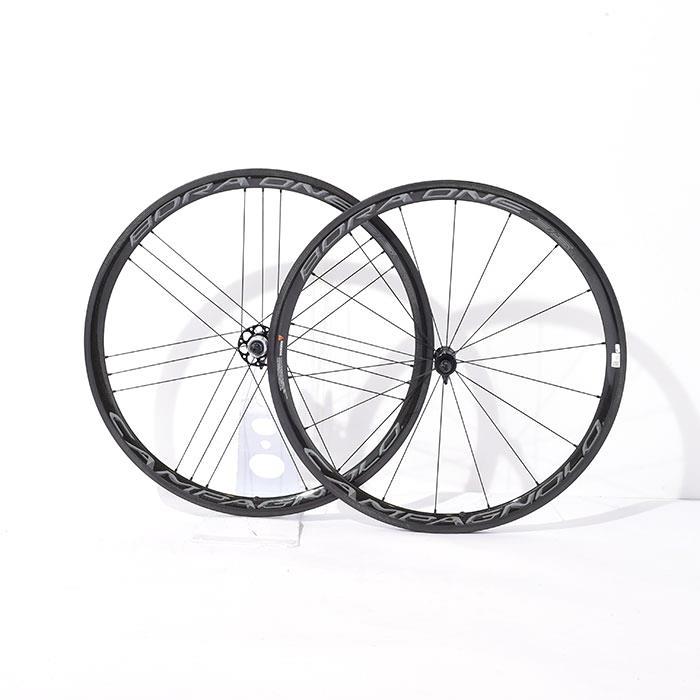 【中古】BORA ONE 35 ボーラワン widerim チューブラー シマノ11S ホイールセット【自転車】