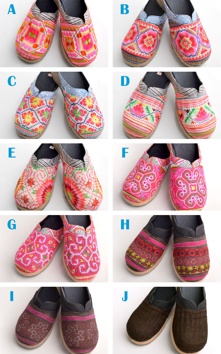 In contrast with embroidery of Hmong embroidered Sandals * thick bottom hemp @N0300 5千 yen or more.