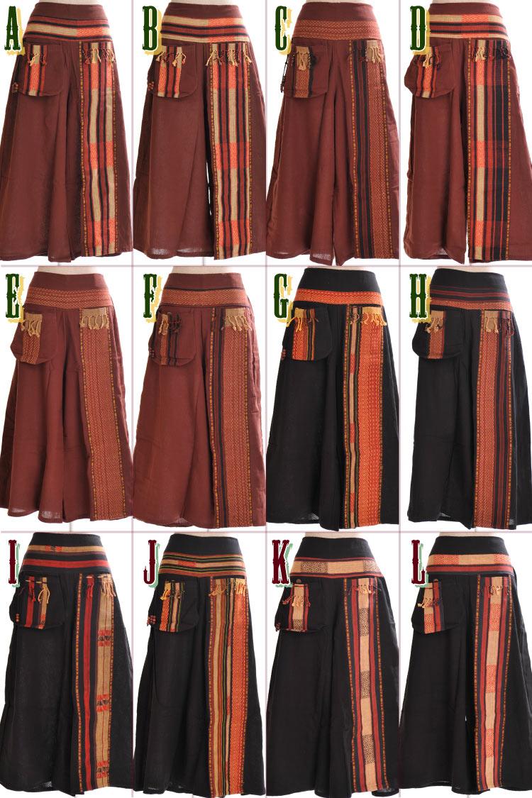 @B0203 [Asian fashion Asian sundry ethnic fashion Oriental Asian textiles Naga ethnic wide pants women's harem pants Samuel pants salad Samuel embroidery]