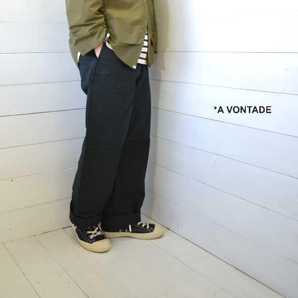《送料無料》ワイドシルエットのチノトラウザーです A VONTADE アボンタージ チノトラウザー ワイドフィット Type 45 Chino 最新号掲載アイテム Trousers - Wide 返品交換不可 日本製 ワイド vontade メンズ a 正規取扱店 blackVTD-0340-PT Fit チノパン 送料無料 パンツ