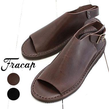 FRACAP (フラカップ) レザー サンダル SandaloD029 メンズ レディース 靴 サンダル 革 ビブラムソール コンフォートシューズ イタリア製 正規取扱店
