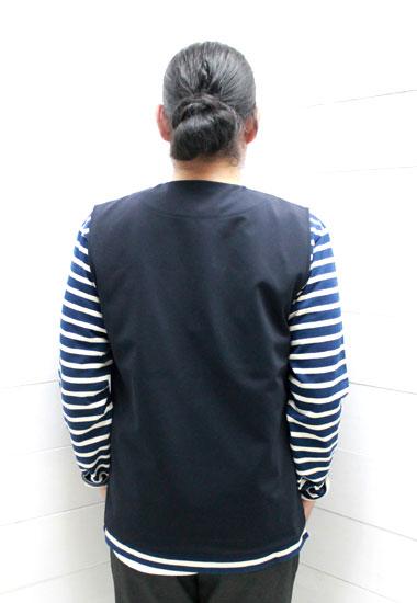/ regular dealer made in Jackman (Jack man) jersey best Jersey Vest JM8865  / button / jackman best / Jack man best / Japan