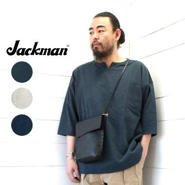 Jackman (ジャックマン) ネップ スキッパー シャツ Nep Skipper ShirtJM5917 メンズ レディース トップ tシャツ 半袖 厚手 送料無料 日本製 正規取扱店