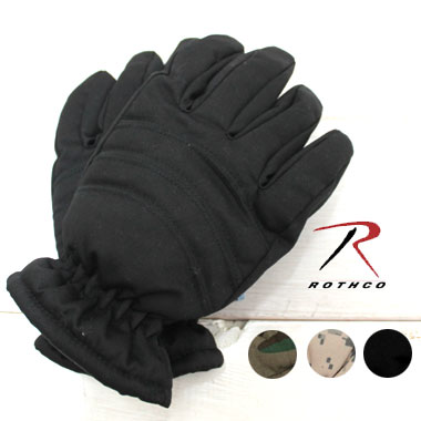 SALE20%OFF 50年以上の歴史をもつ伝統あるミリタリーウエアブランドの手袋です スーパーセール ROTHCO ロスコ 即納 手袋 INSULATED HUNTING GLOVES手袋 メンズ 防寒 交換不可 ローブ 黒 ミリタリー 返品 アメカジ 迷彩