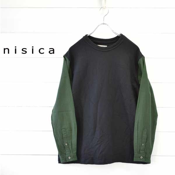 《送料無料》軽く着心地よく暖かいnisicaらしいデザイン nisica ニシカ 切り替え カットソー 買い物 メンズ レディース 長袖 新作送料無料 トップス 送料無料 tシャツ セーター シンプル 日本製