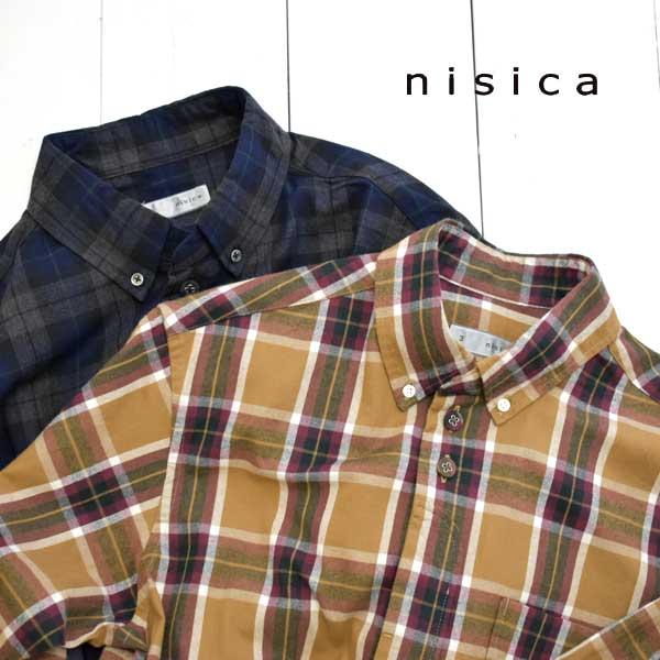 《送料無料》定番人気のニシカのネルシャツ nisica ニシカ ボタンダウンシャツ チェック NIS-925 メンズ ネルシャツ 送料無料 長袖 ランキングTOP10 ボタンダウン 正規取扱店 着後レビューで シャツ 日本製