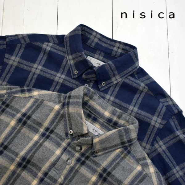 《送料無料》定番人気のニシカのネルシャツ nisica ニシカ ボタンダウンシャツ チェック NIS-998 メンズ シャツ 格安激安 信託 正規取扱店 日本製 ネルシャツ 長袖 送料無料 ボタンダウン