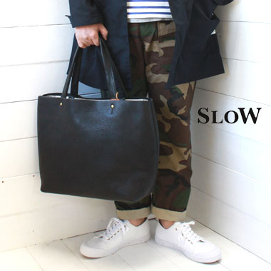SLOW (スロウ) 栃木レザー ジップ トートバッグ L zip tote bag L【bono】49S143G / slow トートバッグ / 栃木レザー トートバッグ / 革 バッグ / 日本製 / 正規取扱店