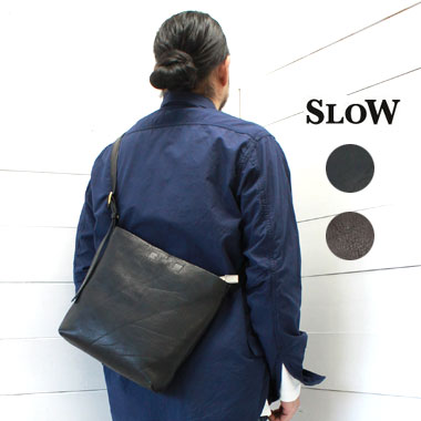 SLOW (スロウ) 栃木レザー ツール ショルダーバッグ S tool shoulder bag S【bono】49S147G / slow バッグ / slow ショルダーバッグ / 栃木レザー バッグ / 革 バッグ / 正規取扱店