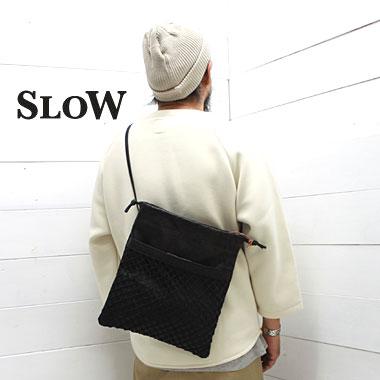 SLOW (スロウ) フィッシング サコッシュ バッグ Fishing Sacoche L49S176H 2wayバッグ slow ショルダーバッグ 巾着バッグ 馬革 ホースレザー バッグ 日本製 正規取扱店