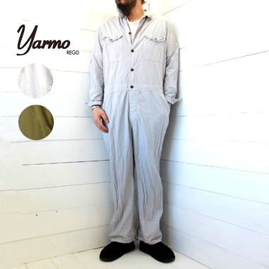 yarmo (ヤーモ) ボイラースーツ Boiler SuitYAR-20SS P6 送料無料 メンズ レディース ユニセックス つなぎ ツナギ オールインワン ワーク イギリス製 正規取扱店
