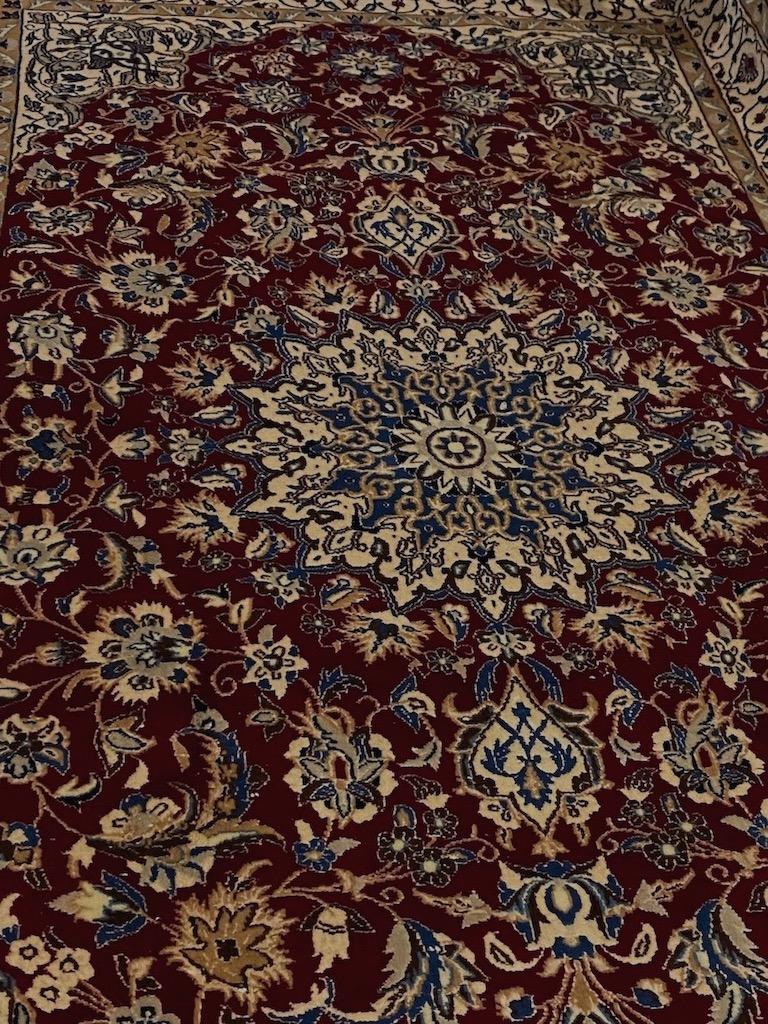 高級ペルシャ絨毯 カーペット ウール ペイズリー リビング 細手作 ケシャン ペルシャ カシャン ペルシャ産保証