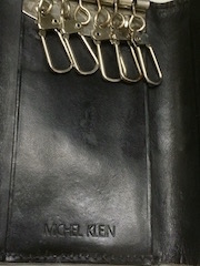 Six Michel Klein MICHEL KLEIN wallet wallet fold W hawk billfold card tender small change card key cases