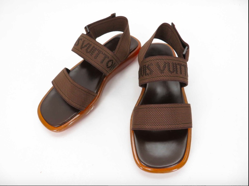8f35a5e55 Louis Vuitton LOUIS VUITTON rubber sandals men sandal 7 1 2 strap brown  black