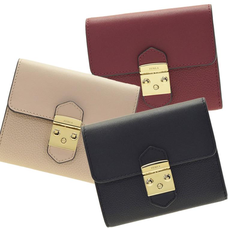 FURLA フルラ 二つ折り財布 メトロポリス METROPOLIS S pu28   折りたたみ 小銭入れ ウォレット サイフ さいふ 財布 カード入れ コンパクト 多い レディース かわいい 可愛い 使いやすい ブランド 革