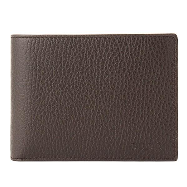 グッチ GUCCI メンズ カードケース付き 二つ折り財布 ダークブラウン レザー 367287cao0g2044 アウトレット