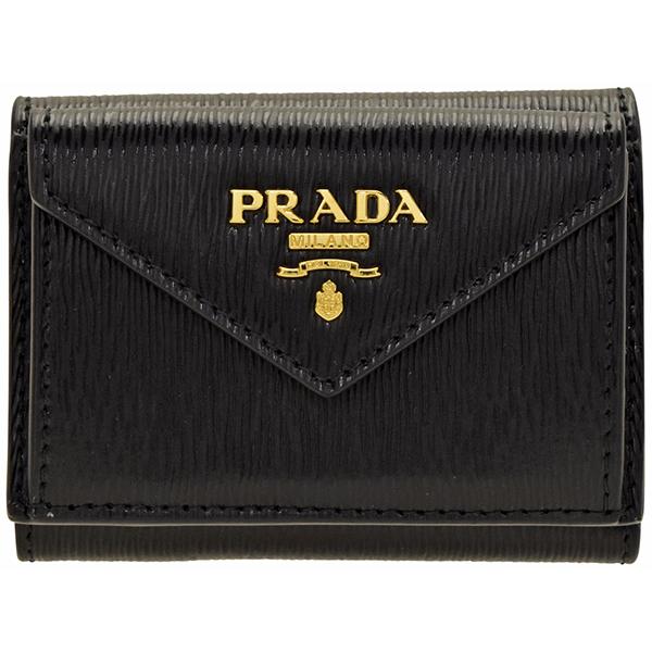 プラダ PRADA 財布 三つ折り財布 レディース/ミニ財布 レディース アウトレット 1mh021vitmov-nero スプリングセール