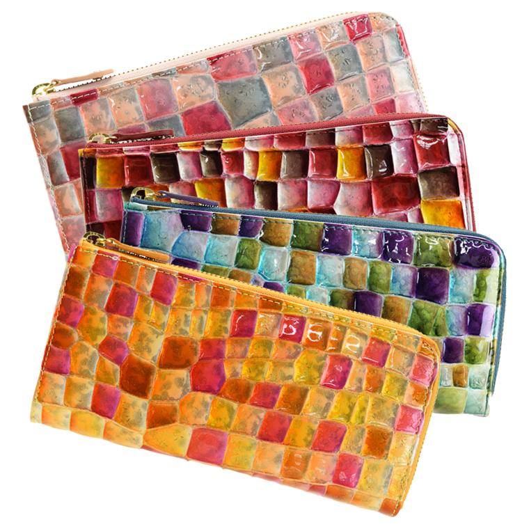 ルムリン LE MURRINE L字ファスナー長財布 ステンドグラス 196102 | ハニカム ハニーセル スリム L字ファスナー 多機能 ウォレット サイフ 財布 カード入れ カード 大容量 多い ブランド レディース 可愛い おしゃれ オシャレ