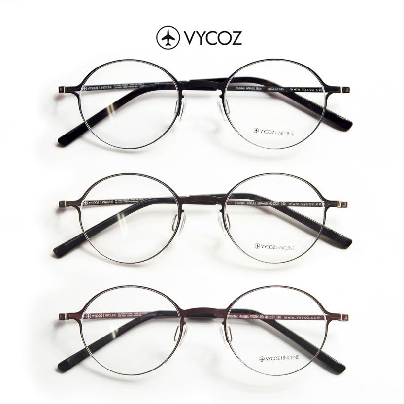 VYCOZ/バイコーズ/ANGEL/MCLIP/軽量メタルフレーム/度付きメガネ/伊達メガネ