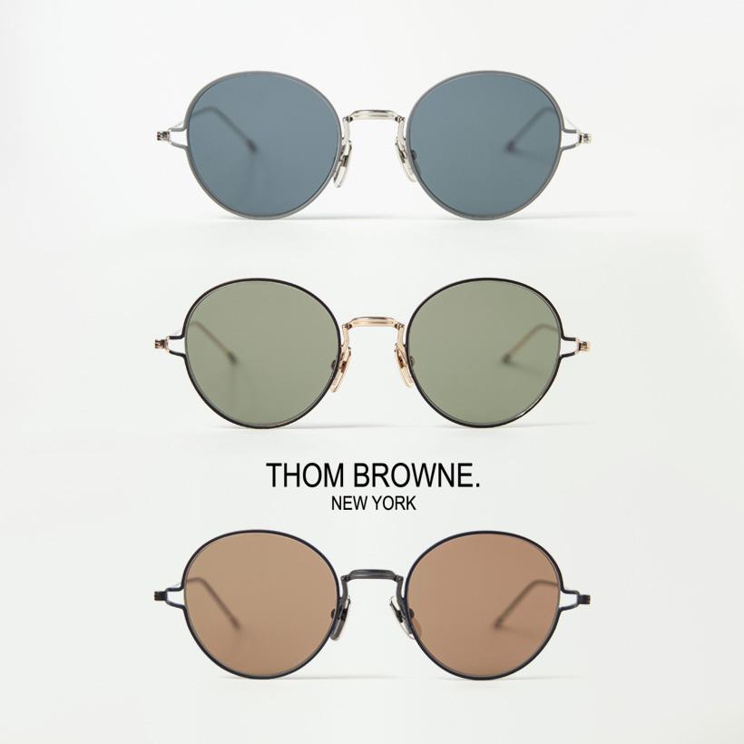 THOM BROWNE トムブラウン TBS-915 ボストンサングラス 50サイズ メガネ 伊達 度付き