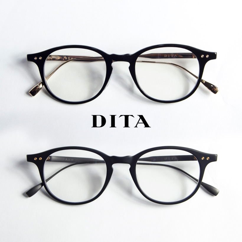 DITA ディータ ASH 49サイズ ボストン メガネ 伊達 度付き