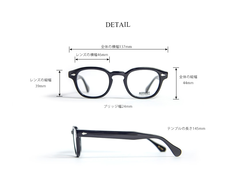 2b595a882aaa ... With MOSCOT MOS cot LEMTOSH 46 size Wellington glasses Date degree ...