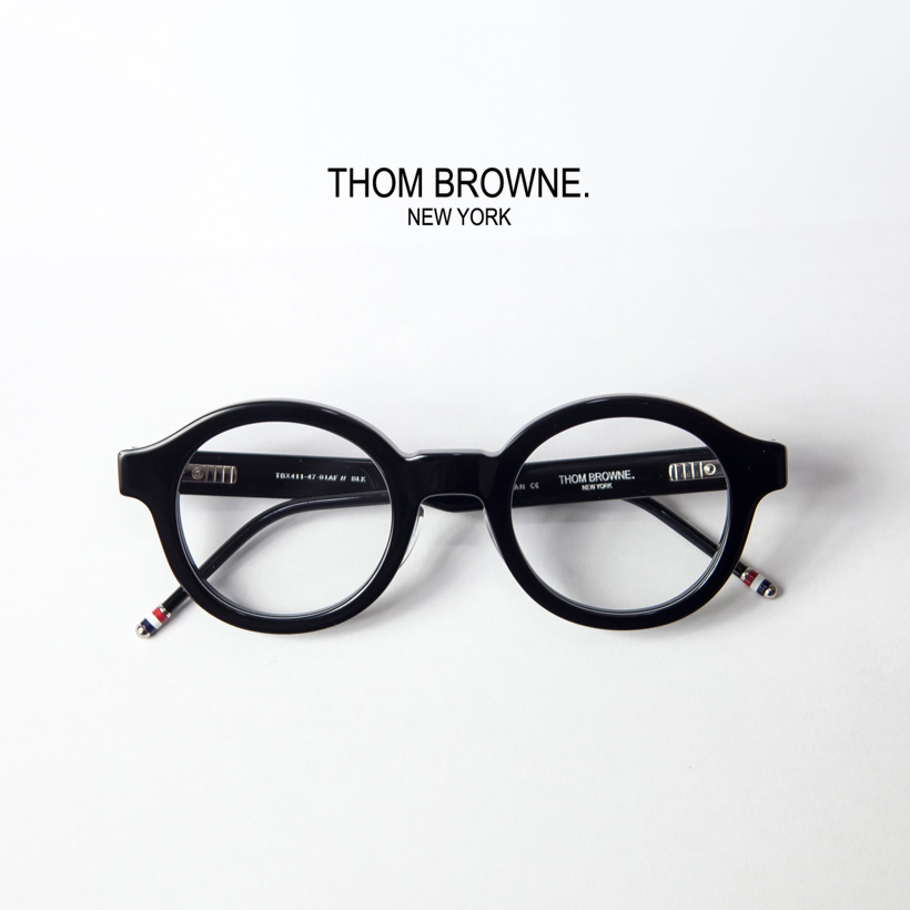 0c22da5e6ea0 MARC ARROWS  With THOM BROWNE Tom Browne TB-411 round frame 47 size ...