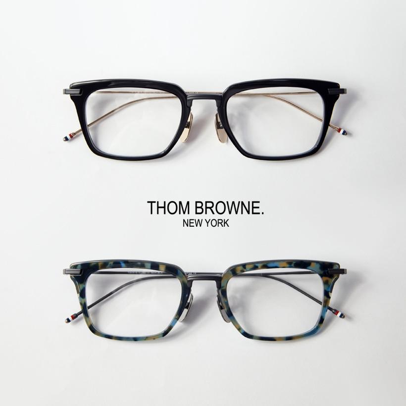 送料無料 日本製 スクエア クラシック ヴィンテージ ブランド 眼鏡 めがね 伊達めがね メンズ レディース 度付き 即出荷 THOM スクエアフレーム メガネ ユニセックス TBX-916 BROWNE 51サイズ 伊達 トムブラウン 販売期間 限定のお得なタイムセール