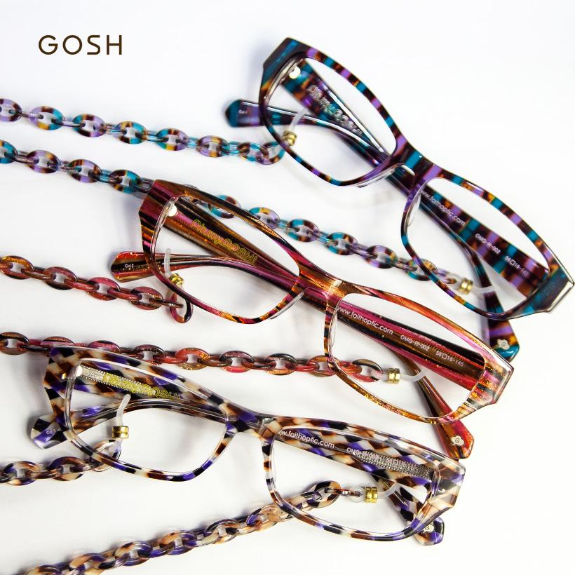 天哪天哪方梅甘娜玻璃鏈眼鏡閱讀眼鏡 senioglas 女性時尚女裝