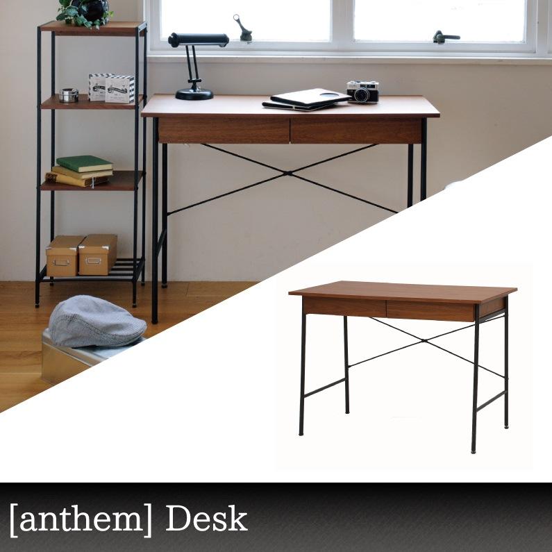 送料無料 限定 北欧 夏 anthem(アンセム)【ant-2459】【デスク】【ウォールナット】机 幅100cm【anthem Desk】