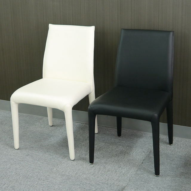 【脚までPVCのこだわりチェア】 ダイニングチェア チェア チェアー PVC レザー 椅子 いす シンプル モダン 北欧 おしゃれ ★MSC-7109チェア(ブラック/ホワイト)【送料無料】【02P03Dec16】