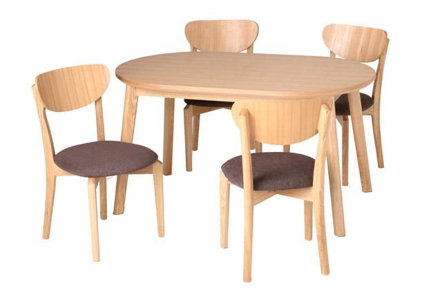 【送料無料】タモ突板 丸みを帯びた優しいデザイン 丸テーブル 憧れの北欧ライフ!ダイニングセット 5点セット 幅130cm ナチュラル 食卓セット ★ナチュレダイニング5点セット【02P03Dec16】