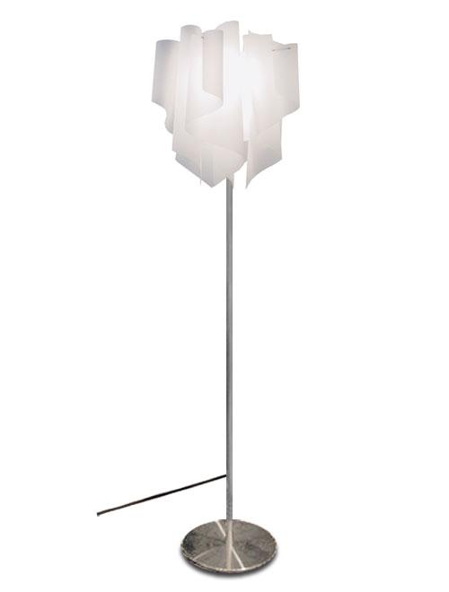 透明感のあるオーロラをイメージしたデザイン【DI CLASSE(ディ クラッセ)】 フロアランプ Auro floor lamp グッドデザイン賞 シェードのドレープ フロアスタンド ライト ★アウロフロアランプ【02P03Dec16】