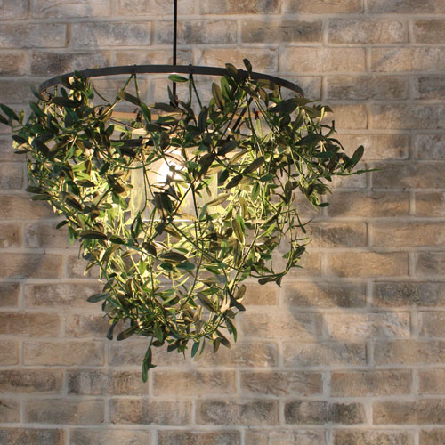 DI CLACCE【お洒落デザイン照明】リビングやダイニング、寝室やワンルームにおしゃれな照明を。 アイアン リーフ ★ミニフォレスティ アイアン ペンダントランプ(Mini-Foresti Iron pendant lamp)【02P03Dec16】