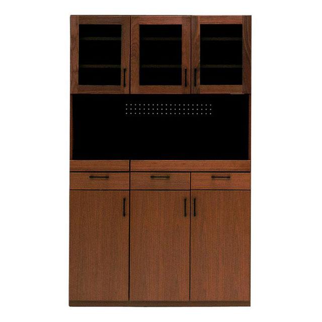【開梱設置無料!】 食器棚 キッチンボード 完成品 120cm 北欧 木製 ウォールナット キッチン 収納 シンプル ブラウン ★Merissa(メリッサ)120キッチンボード 送料無料【02P03Dec16】