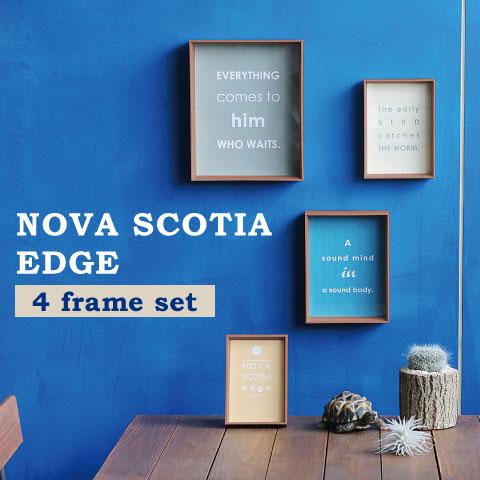 フォトフレーム 日本メーカー新品 写真立て 複数 壁掛け 置き フォトスタンド プレゼント 贈り物 ギフト シンプル おしゃれ 北欧 4つのフレームがセットに 額 激安超特価 スタンド兼用 エッジ 木製 チーク 写真 02P03Dec16 送料無料 ノヴァスコティア