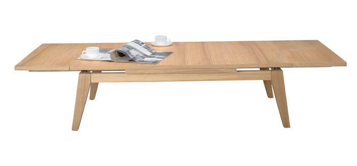 スライドして天板を引っ張るだけで120~180cmまで広々使えます!収縮 伸張式 伸び縮み出来るリビングテーブル エクステンションテーブル ★コパン(ブラウン/ナチュラル)CPN-102【02P03Dec16】