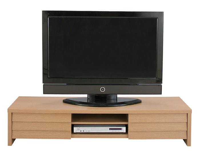 シンプルなデザインながら高級感もある150cmのテレビボード 人気のデザイン 幅150 ★LEローボード(ナチュラル/ウォールナットブラウン) 【送料無料】【02P03Dec16】