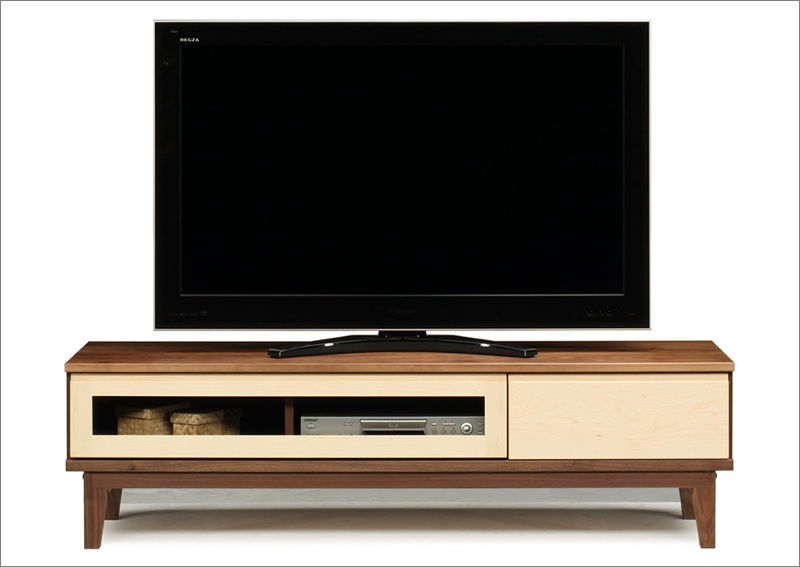 ツートンカラーの可愛いテレビ台 テレビボード 幅153センチ 収納チェスト 脚付き 家具 日本製 本体完成品 上質 ★シルク153TVボード【02P03Dec16】