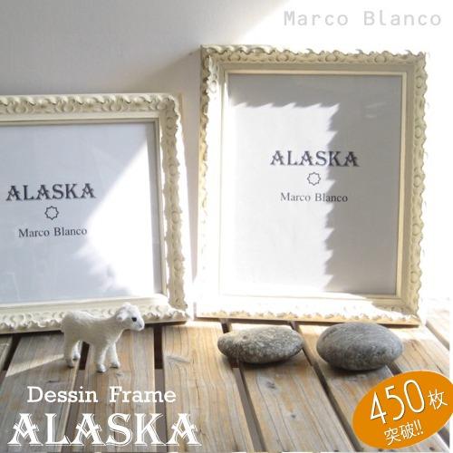 三三サイズ 【Alaska (アラスカ)】アンティークゴシック調の白い額縁。。 アクリル入りウェルカムボード・ウェディング用店舗インテリアなどにおススメ!