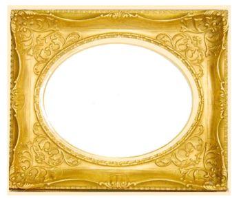 送料無料 豪華な楕円マドの珍しいフレーム。。油彩額 F6 【7826】 ゴールド