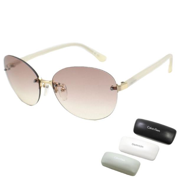 カルバンクライン サングラス Calvin Klein アイテム勢ぞろい 登場大人気アイテム CK1223SA-714 cK メンズ UVカット アジアンフィット オフホワイト レディース ライトブラウン