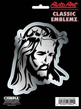 有粘紙基督冠的滑板滑板智慧型手機PC平板電腦樂器吉他Jesus w/Crown耶穌基督基督汽車配飾美國