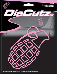 ダイカッツ ステッカー ピンクグレネード スケートボード スケボー スマホ 2020A/W新作送料無料 PC タブレット 楽器 ギター Die Grenade Pink 3939 蔵 手榴弾 Cutz アメリカン Decal カーアクセサリー