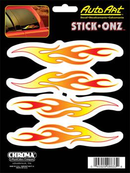 ステッカー 返品送料無料 フレイムズ 炎 スケートボード スケボー スマホ PC お洒落 カーアクセサリー タブレット 8633 アメリカン 楽器 Flames ギター
