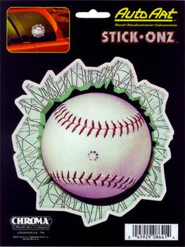 ステッカー ベースボール 野球ボール Baseball 激安挑戦中 Broke 8641 Glass 1年保証 アメリカン カーアクセサリー